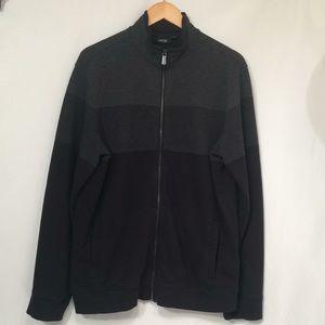 APT 9 men's L  zip up cardigan (552)